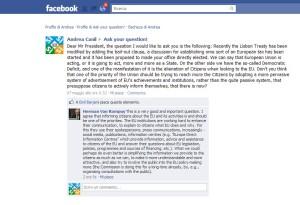 Andrea Canil Europa Europe risposta presidente europeo  van rompuy 14 maggio 2011